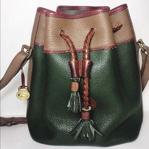 Dooney & Bourke Drawstring Leather Shoulder Bag